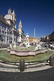 Moor Fountain (Fontana Del Moro), Piazza Navona, Rome, Lazio, Italy, Europe Photographic Print by  Peter