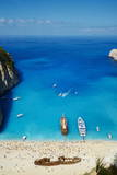 Shipwreck Beach, Zante Island, Ionian Islands, Greek Islands, Greece, Europe Reprodukcja zdjęcia autor Tuul
