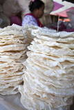 Large Rice Crackers, Market, Inle Lake, Nyaungshwe, Myanmar (Burma), Asia Photographic Print by  Lynn