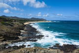 Lookout over Sandy Beach, Oahu, Hawaii, United States of America, Pacific Photographic Print by  Michael