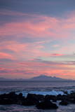 Kaikoura Ranges in South Island at Sunset from Wellington, North Island, New Zealand, Pacific Photographic Print by  Nick