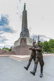 The Changing of the Guard at the Monument of Freedom, Riga, Latvia, Europe Photographic Print by  Michael