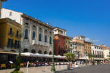 Piazza Bra, Verona, UNESCO World Heritage Site, Veneto, Italy, Europe Photographic Print by  Nico