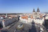 View over the Old Town Square (Staromestske Namesti) with Tyn Cathedral Photographic Print by  Markus
