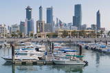 City Skyline Viewed from Souk Shark Mall and Kuwait Harbour, Kuwait City, Kuwait, Middle East Photographic Print by  Gavin