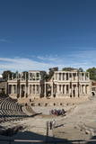 Roman Theater, Merida, UNESCO World Heritage Site, Badajoz, Extremadura, Spain, Europe Photographic Print by  Michael