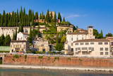 Colle San Pietro, River Adige, Verona, UNESCO World Heritage Site, Veneto, Italy, Europe Photographic Print by  Nico