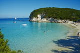 Vrika Beach, Antipaxos, Antipaxi, Ionian Islands, Greek Islands, Greece, Europe Photographic Print by  Tuul