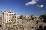Temple of Saturn and Roman Forum, UNESCO World Heritage Site, Rome, Lazio, Italy, Europe Photographic Print by  Peter