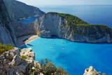 Shipwreck Beach, Zante Island, Ionian Islands, Greek Islands, Greece, Europe Reprodukcja zdjęcia autor Tuul