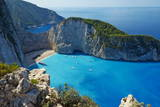 Shipwreck Beach, Zante Island, Ionian Islands, Greek Islands, Greece, Europe Photographic Print by  Tuul