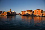 Murano Island at Sunset, Venice Lagoon, Venice, Veneto, Italy, Europe Photographic Print by  Carlo