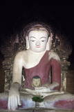 Rare Buddha Statue with Head Inside Body in Temple, Nyaung U, Bagan, Myanmar (Burma), Asia Photographic Print by  Lynn