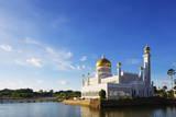 Omar Ali Saifuddien Mosque, Bandar Seri Begawan, Brunei, Borneo, Southeast Asia Photographic Print by  Christian
