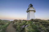Waipapa Point Lighthouse at Sunset, the Catlins, South Island, New Zealand Photographic Print by  Michael