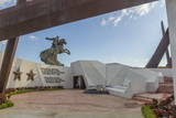 Eternal Flame Martyrs' Memorial and Antonio Maceo Equestrian Statue Photographic Print by  Rolf