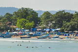 Outrigger Fishing Boats at the Town Beach of This Major South Coast Resort Photographic Print by  Rob