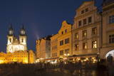 Old Town Square (Staromestske Namesti) and Tyn Cathedral (Church of Our Lady before Tyn) Photographic Print by  Angelo