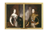 Isabella II and Francis, Duke of Cadiz Posters by Jose Gutierrez De La Vega