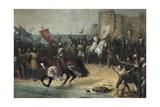 Recapture of Cadiz in 1262-64 Poster by Manuel Cabral y Aguado Bejarano