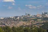 View over Kigali, Rwanda, Africa Fotografisk tryk af  Michael