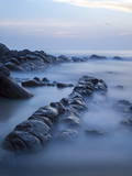Long Exposure of Surf and Rocks at Sunrise, Tangalle, Sri Lanka, Indian Ocean, Asia Photographic Print by Charlie Harding