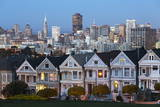 The Painted Ladies and the City at Dusk Photographic Print by  Stuart