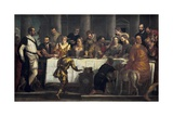 Marriage Feast at Cana Plakater af Paolo Veronese