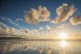 Cloud Reflections at Constantine Bay at Sunset, Cornwall, England, United Kingdom, Europe Photographic Print by  Matthew