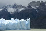 Face of Glaciar Grey (Grey Glacier) on Lago De Grey Photographic Print by  Tony