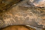 Prehistoric Petroglyphs in Akreijit Neolithic Settlement, 4th-3rd Century Bc Foto