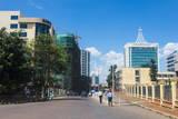 Downtown Kigali, Rwanda, Africa Fotografisk tryk af  Michael