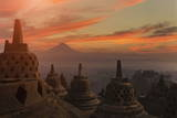 Borobudur Buddhist Temple, UNESCO World Heritage Site, Java, Indonesia, Southeast Asia Photographic Print by  Angelo