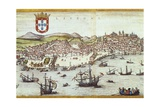 View of Lisbon Giclee Print by Abraham Ortelius