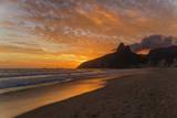 Ipanema Beach at Sunset, Rio De Janeiro, Brazil, South America Fotografie-Druck von  Angelo