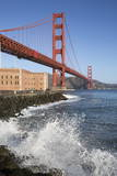 Golden Gate Bridge and Fort Point Photographic Print by  Stuart
