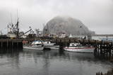 Morro Rock in Fog Photographic Print by  Stuart