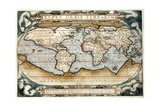 Map of the World Giclee Print by Abraham Ortelius