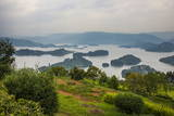 View over Lake Bunyonyi, Uganda, East Africa, Africa Photographic Print by  Michael