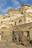 Old Cart in the Sassi Area of Matera, Basilicata, Italy, Europe Photographic Print by  Martin