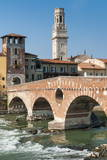 Ponte Pietra, River Adige, Verona, UNESCO World Heritage Site, Veneto, Italy, Europe Photographic Print by  Nico
