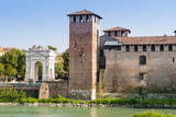 Castelvecchio Fortress Dating from 1355 Photographic Print by  Nico