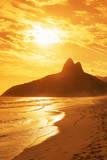 Ipanema Beach at Sunset, Rio De Janeiro, Brazil, South America Photographic Print by  Angelo