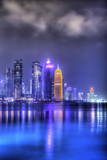 New Skyline of the West Bay Central Financial District of Doha Photographic Print by  Gavin