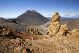 Tongariro Alpine Crossing with Mount Ngauruhoe Photographic Print by  Stuart