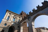 Archway of Porta Bra, Verona, UNESCO World Heritage Site, Veneto, Italy, Europe Photographic Print by  Nico