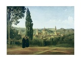 View of Florence from the Boboli Gardens Giclee Print by Jean-Baptiste-Camille Corot