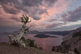 Sunset at Crater Lake with Wizard Island Photographic Print by  James