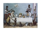 The Lunch Giclee Print by Jean Baptiste Debret