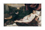 Venus and the Organist Plakater af Titian (Tiziano Vecelli)